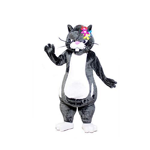 Num Nums Gray Hamster Zhuzhu Pets Mascot Costume Character Cosplay Party Birthday Halloween