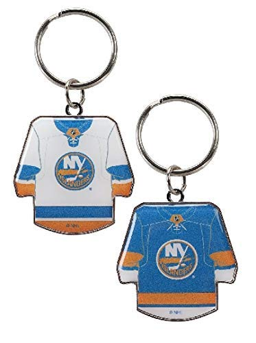 aminco NHL New York Islanders Reversible Home/Away Hockey Jersey KeychainReversible Home/Away Hockey Jersey Keychain, Team Color, 4