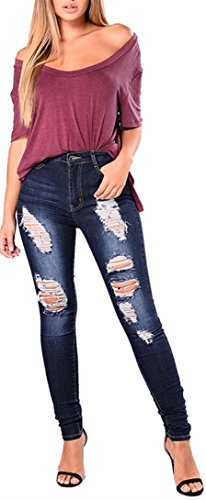 Bum Ladies Super Stretch Jeans (Blue) - 6