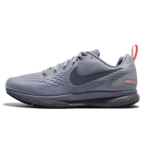 Nike Womens Air Pegasus 34 Shield Running Trainers 907328 Sneakers Shoes (UK 3 US 5.5 EU 36, Wolf Grey Thunder Blue 002) ()