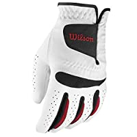 WILSON Herren Golf Handschuh Feel Plus MLH, Weiß, L, WGJA00064L