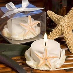 Starfish Design Favor Saver Candles, 72