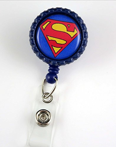 Super Hero Superman - Nurse Badge Reel - Retractable ID Badge Holder - Nurse Badge - Badge Clip - Badge Reels - Pediatric - RN - Name Badge Holder
