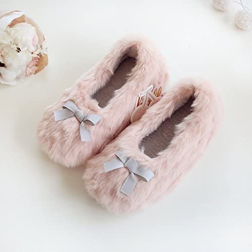 Fakeface Kids Girls Sweet Hairy Thermal Winter Slippers Ankle Boots Thick Casual Indoor Booties Shoes Footwear