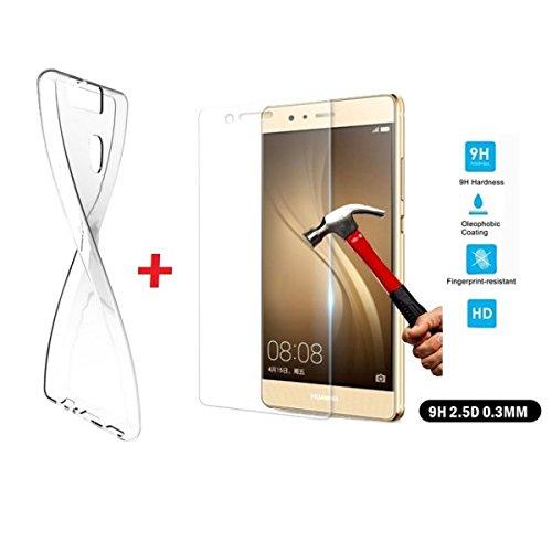 7 opinioni per PELLICOLA in VETRO TEMPERATO per Huawei P9 Lite 100% Trasparente Protezione