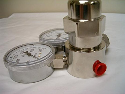 6000 PSI Miller Smith 827-00-27 Silverline High Pressure Analytical Brass Single Stage Regulators