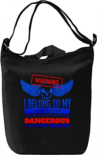 Warning Borsa Giornaliera Canvas Canvas Day Bag| 100% Premium Cotton Canvas| DTG Printing|