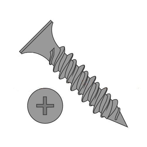 Drywall Screws Black Phosphate Steel #8 X 1-1//2 Sharp Point 4000 pcs Bugle Phillips Drive Fine Thread Hi-Lo Threading