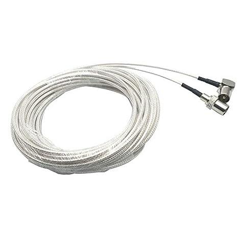 Semoic Cable Coaxial de Alta Temperatura RG316 SMA, SMA Macho una ...