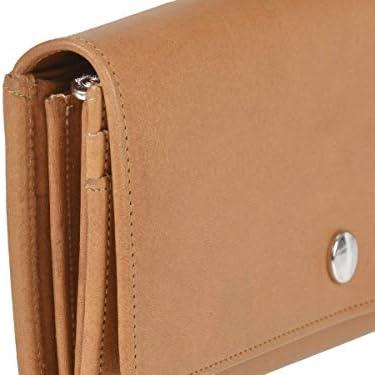 Sonnenleder Geldbörse Damen Leder Portemonnaie 10 Kartenfächer Sempt schwarz