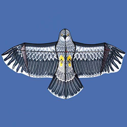 Mayco Bell New Huge Eagle Kite Single line Novelty Animal Kites Children's Toys (Gray)