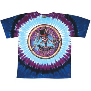 Grateful Dead Men's Queen of Spades Tie Dye T-Shirt Small Multi (Spades Tie Dye T-shirt)