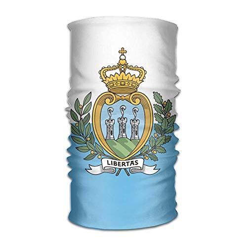 Headwear Flag of San Marino Outdoor Scarf Bandana Headbands by Mewisx