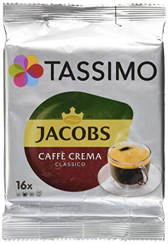 Tassimo Jacobs Caffè Crema Classico, Coffee with Fine Cream, 16 T-Discs (16 Tassimo T-discs)