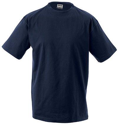 Round- T-Shirt per uomo Medium/James & Nicholson (JN 001) S M L XL XXL, nero, XXL
