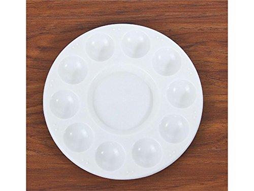 Andosange Paleta de Gouache Acuarela Redonda Plato de Pigmento plástico Paleta Multicolor Blanco