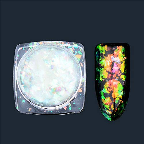 (Nail Art Glitter Powder Dust Acrylic UV Gel Tips DIY Manicure Decoration MTSSII (Color - #4))