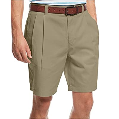 "Discount Club Room Core Double Pleated 9"" Twill Shorts"