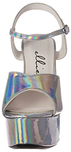 Ellie Shoes Women's 609-Lola Heeled Sandal Slv 5Zi5J