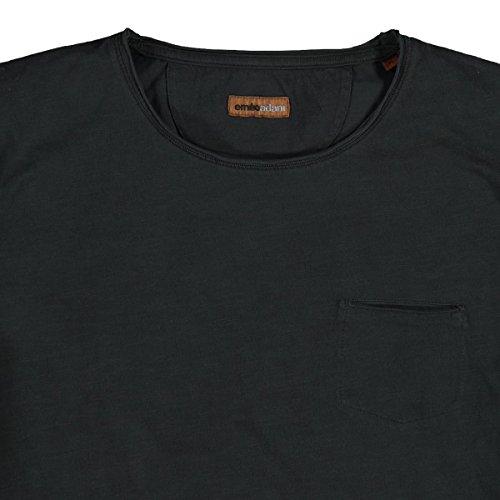 emilio adani Herren Rundhals T-Shirt, 23663, Schwarz
