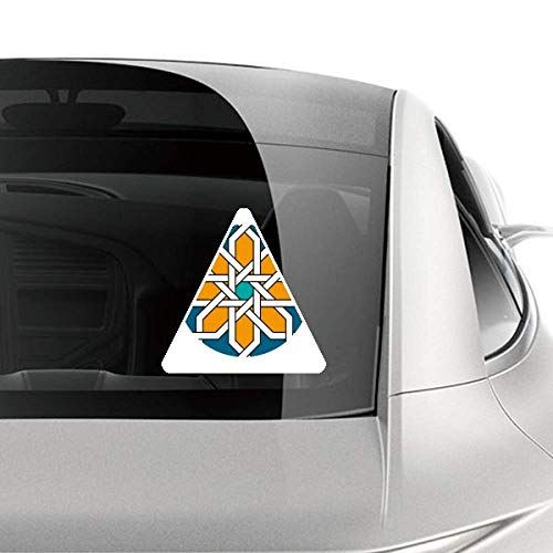 (DIYthinker Flower Morocco Style Abstract Geometry Car Sticker Motorcycle Bicycle Styling Decal)