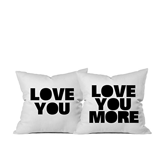 Oh, Susannah Love You Love You More Throw Pillow Cover ( Two 18x18 Inch Throw Pillow Cover) Couples Engagement Gifts