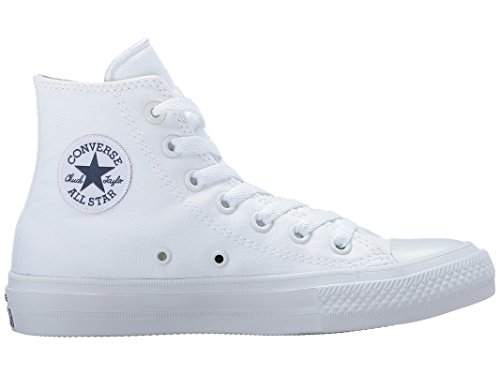 Converse Boys Chuck Taylor All Star II Kids High Top Trainers (4 Big Kid M, Optical White) (Girls White Converse High Tops)