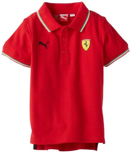PUMA Little Boys' Little Ferrari Polo, Red, 5