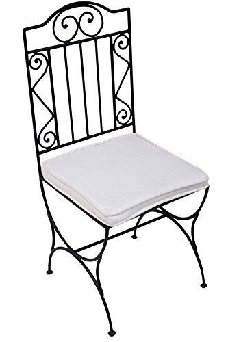 ORIGINAL Orientalischer Stuhl Gartenstuhl Aus Metall Schwarz Bilbao |  Marokkanischer Balkonstuhl Inkl. Sitzkissen Stuhlkissen |