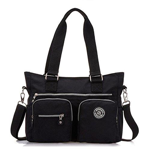 Tiny for Handbag Nylon Black Women Multipurpose Premium Body Tote Bag Shoulder Cross Chou Water Resistant S7SwpRqr