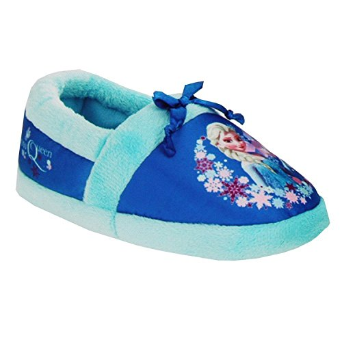 Disney Frozen Elsa Slippers Toddler Girl Small 5/6 Blue]()