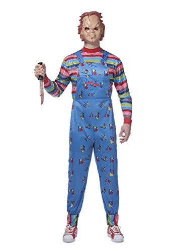 Costumes Good Guys (Franco Chucky Adult Good Guys Killer Doll Costume)