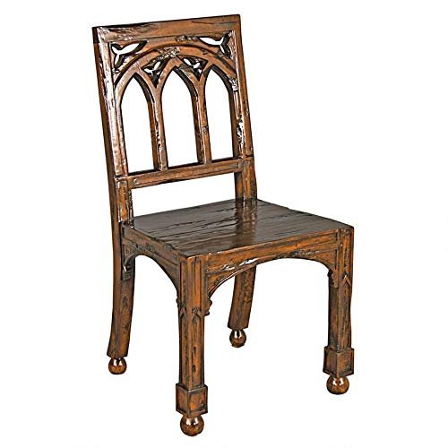 Design Toscano Gothic Revival Rectory Chair Set of Two