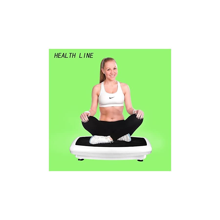 Health Line 330LB Vibration Plate Workout Machine Vibration Platform Body Shape Vibration Exercise Machine with Two Bands and Remote