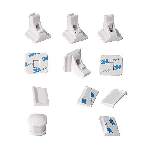 Magnetic Cabinet Locks, Baby-Proofing Cabinet and Drawers Locks, Heavy Duty Locking System (4 Locks + 1 Key)