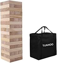 TUAHOO Outdoor Games Giant Tumbling Timbers Tumble Tower Blocks Games Wooden Stacking Game for Adult Kids Fami