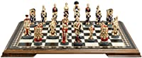 Battle of Waterloo Themed Chess Set - 4.25 Inches - In Presentation Box - Handmade and Hand-painted in UK