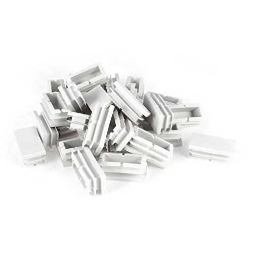 Plastic Blanking End Cap Caps Tube Pipe Inserts 40mmx20mm 30 Pcs - Plug Whit