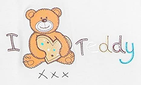 18-24 months I Love Teddy Slumbersac Bamboo Baby Summer Sleeping Bag with Feet approx 1 Tog