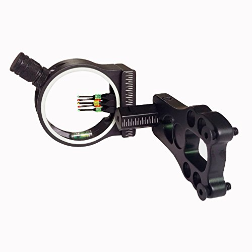 Archery Bows Sights Compound 5 Pin Bow Sight 029' Fiber Optics Archery Sights with LED Sight for Right and Left Handed