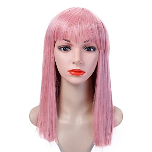 40CM Halloween Hair Long Straight Wig Womans Heat Resistant Synthetic Female Cosplay Wigs for White Women Fake Hair,#6,16inches
