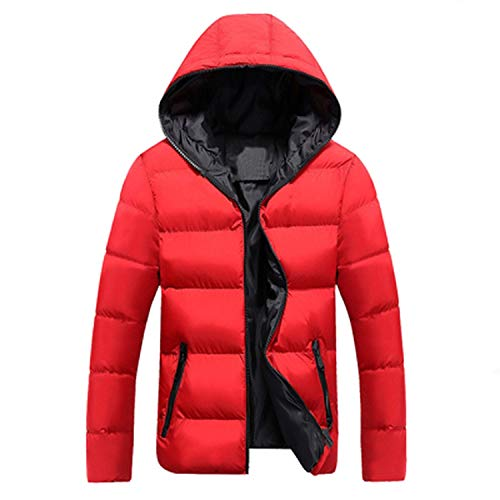 Men Winter Jacket Fashion Hooded Thermal Down Cotton Parkas Male Casual Hoodies Win,Blue Orange,5XL