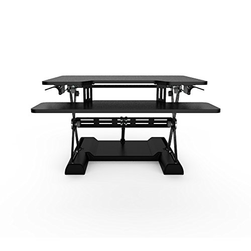 OLLO: Variable height, sit-stand workstation with gas spring power, 30'' wide, 4.4-17.5'' lift (OD-30 Black) by OLLO (Image #4)