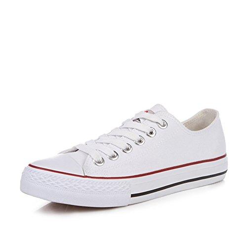 Lienzo clásico zapatos de las mujeres/Zapatos de encaje de corte de verano estudiante bajo/Zapatos planos mujer A