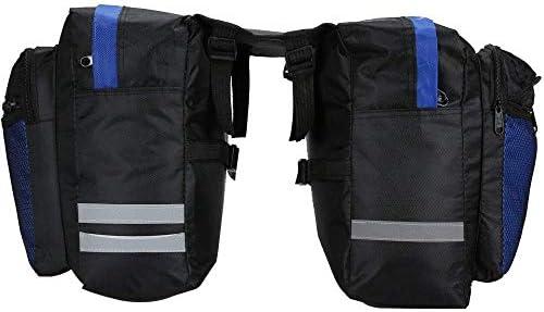防水多機能後輪自転車調整可能なサドルラックハンドバッグ自転車反射トリムパネルショルダーバッグサドルバッグ