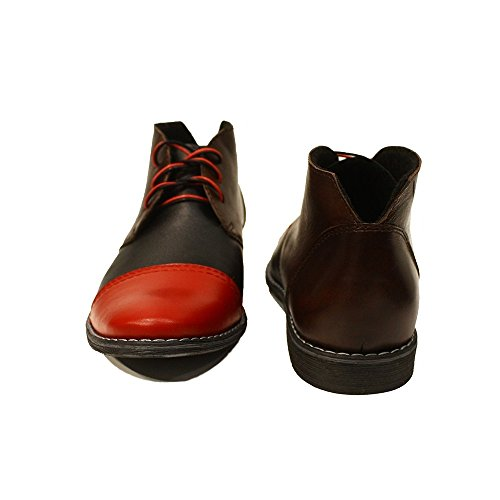 Smooth Handmade Lace Mens Boots Italian Cirillo Cowhide PeppeShoes Up Ankle Leather Colorful Chukka Modello Leather PEqgRxOSw