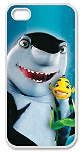 E-luckiycase PC Hard Shell Cute Shark with White Skin Edges for Iphone 5 5s Case