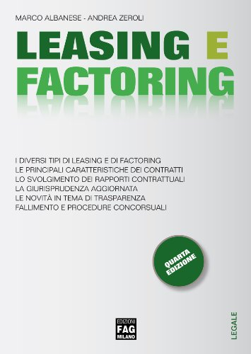 Leasing e factoring (Legale) (Italian Edition)