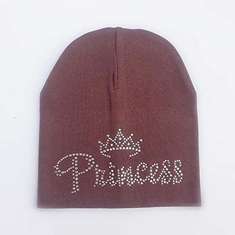 Diamante de princesa de otoño para niños Sombrero de niña Sombrero de niño Gorro de algodón