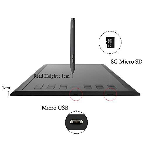 Huion New 1060 Plus Graphic Drawing Tablet 10 x 6 25